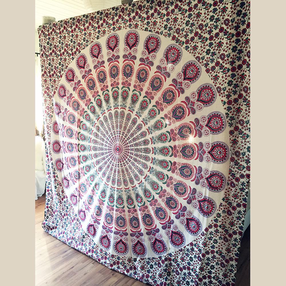 Drap Mural Mandala Rose